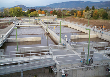 View of wastewater reservoir